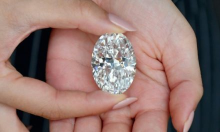 A Flawless 102-Carat Rare White Diamond up for Auction In Hong Kong