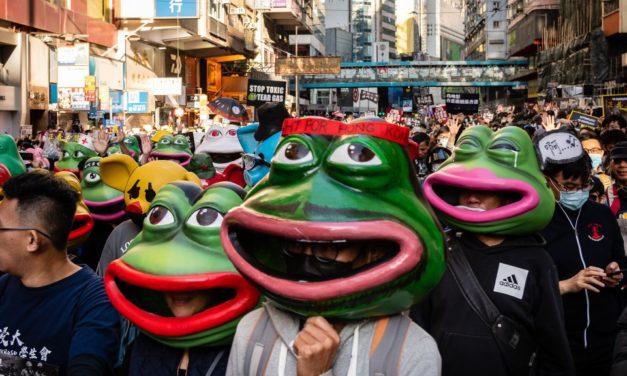 Hong Kong Protesters Bring Internet Memes to Life