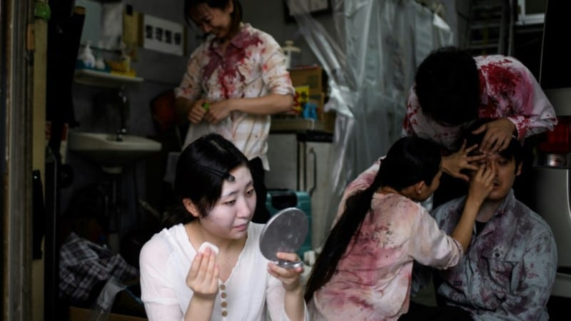 Actors Hired to Set Up Haunted House Experience.afp