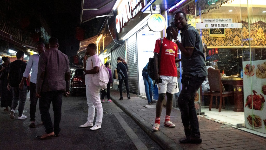African Community in Guangzhou China.afp