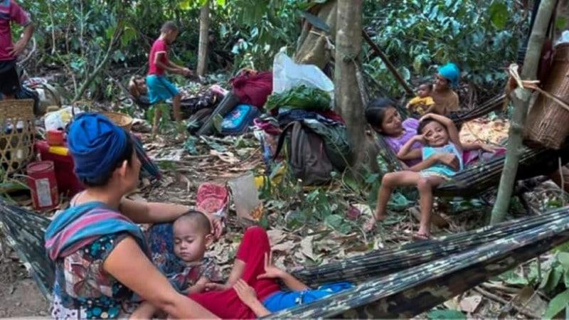 Airstrikes in Karen State of Myanmar