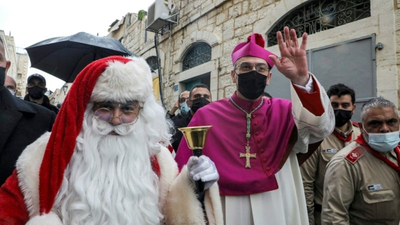 Archbishop Pierbattista Pizzaballa in Bethlehem