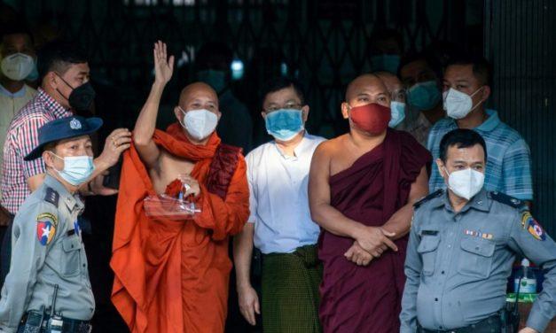 Fugitive Myanmar Monk Gives Himself up after 18 Months on Run