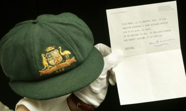 Don Bradman's Debut 'Baggy Green' Cap Sold for Record Aus$450,000