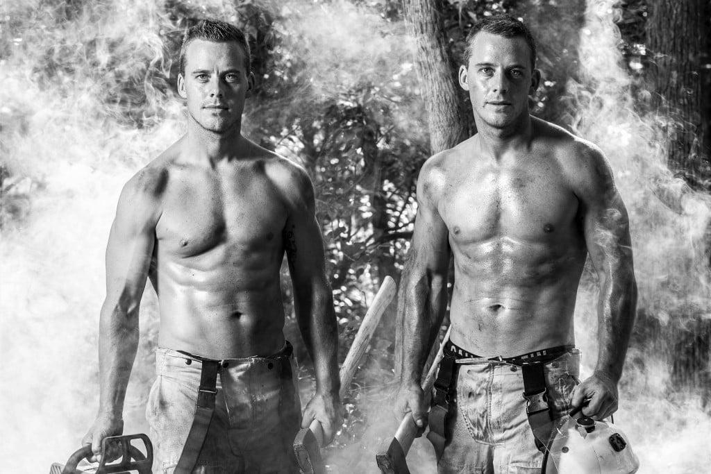 Australian Firemen Calendar duo