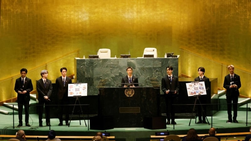 BTS Speak in the UN General Assembly Hall