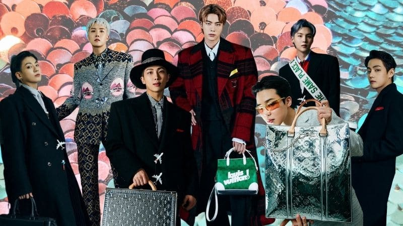 BTS Walks Louis Vuitton - Banner