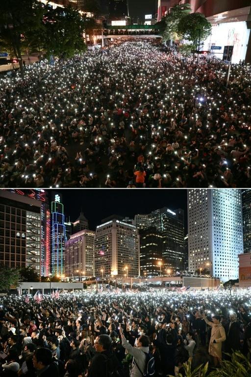 Bangkok and Hong Kong Protesters