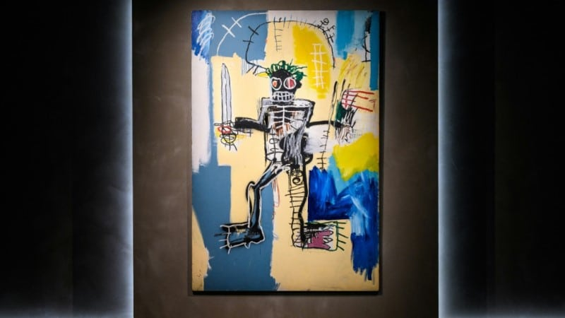The painting, made with acrylic and spray paint on a wood panel, is viewed in the art world as the American artist's landmark work and created during the best era of his creative output