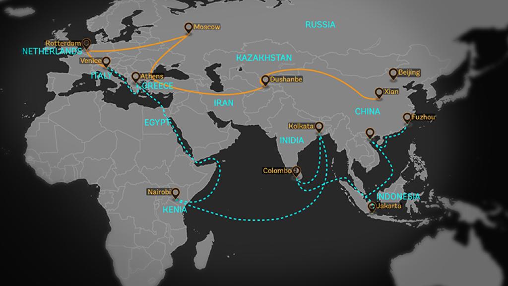 Belt and Road Initiative Map