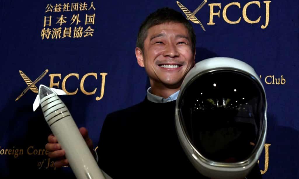 Billionaire Yusaku Maezawa Japan.afp