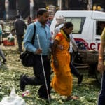 The Blind Navigates on the Broken Streets of Delhi
