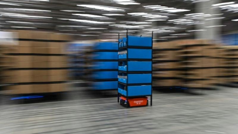 Blue Robot at Wuxi Warehouse