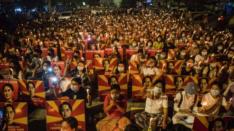 Candlelight Vigil in Yangon