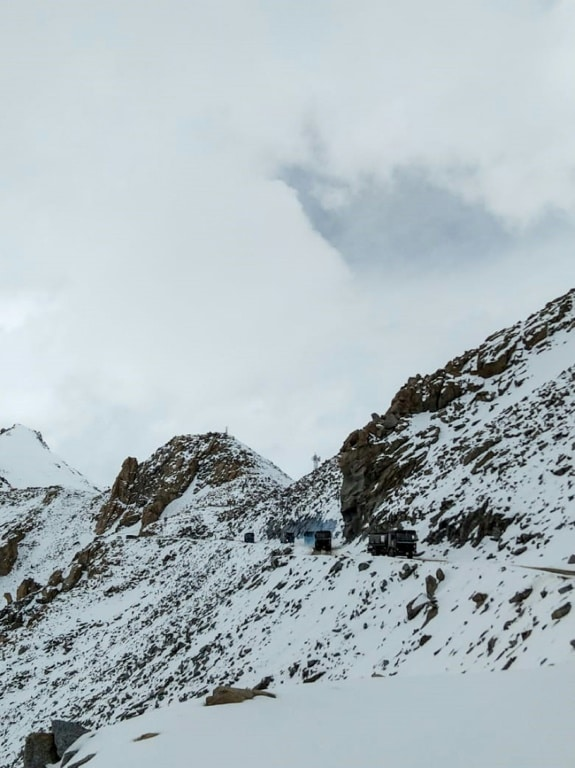 Chang La pass in Northern India's Ladakh Region.afp
