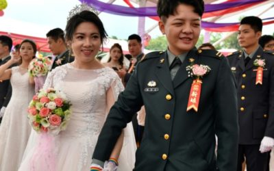 Gay Couples Tie Knot for First Time at Taiwan Military Wedding