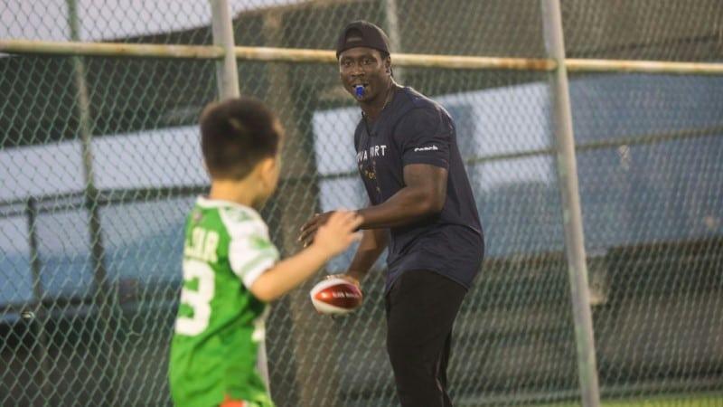 Children Taking Part in American Football