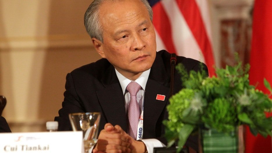 Chinese Ambassador to the United States Cui Tiankai.afp