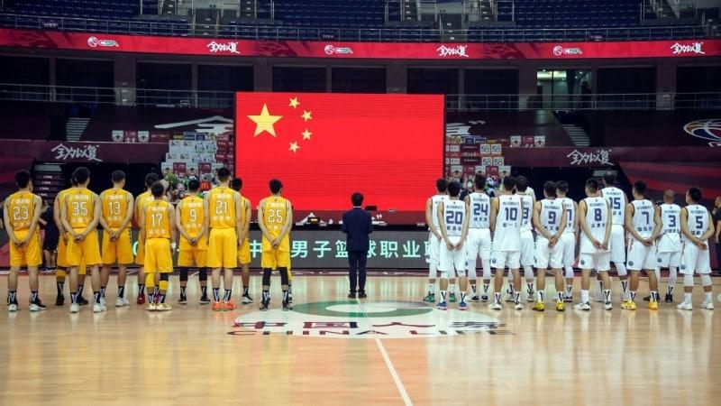 Chinese Basketball Players.afp
