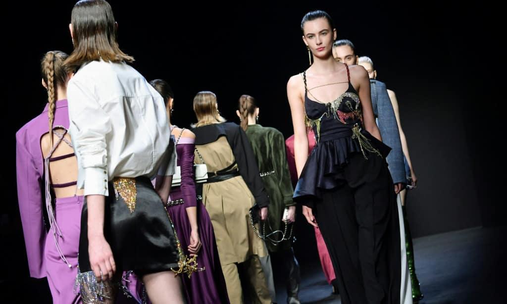 Chinese Creations at Milan Fashion Week Italy.afp