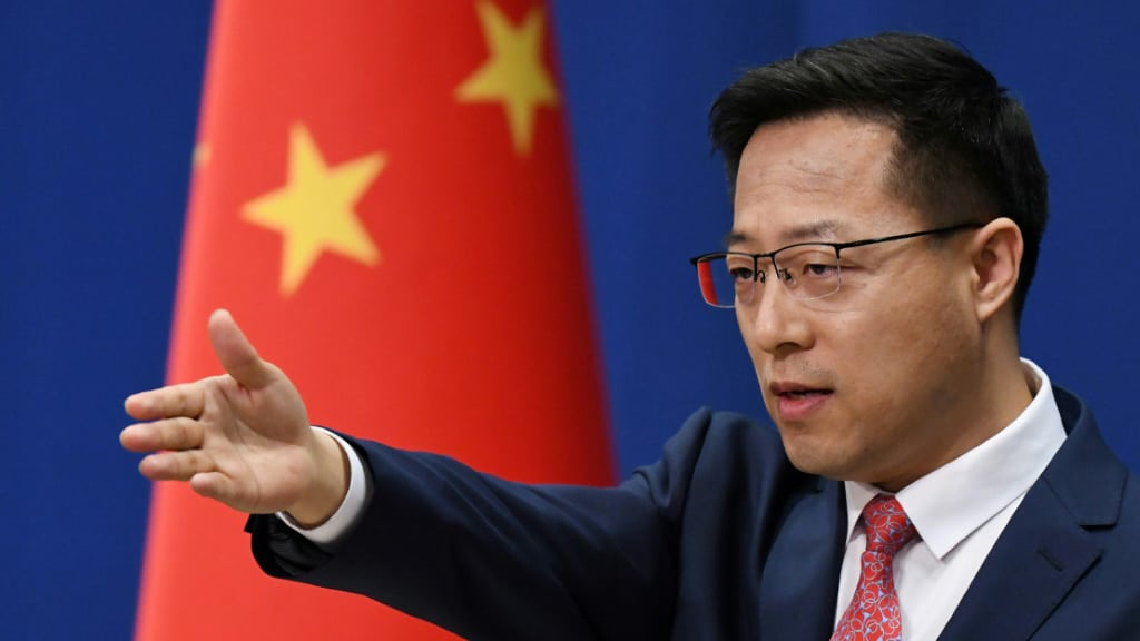 Chinese Foreign Ministry Spokeman Zhao Lijian.afp