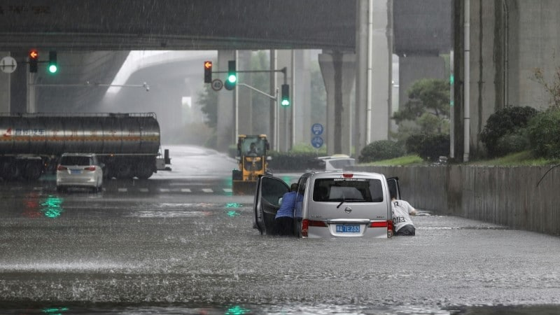 Chinese Subway Flooded
