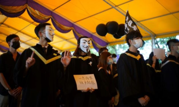 Graduating Hong Kong Students Display Banned Pro-Democracy Slogans