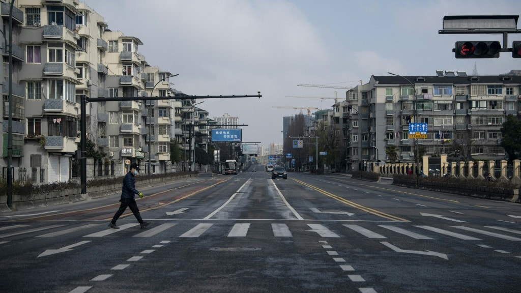 City Street in Hangzhou China.afp