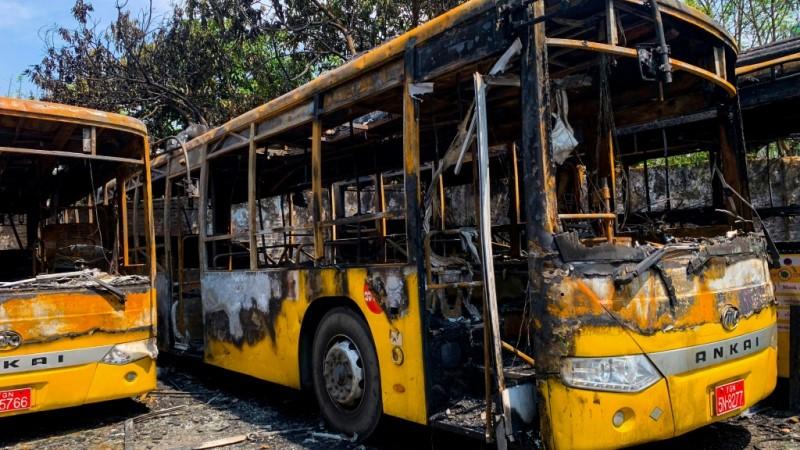 City Transport Buses in Myanmar