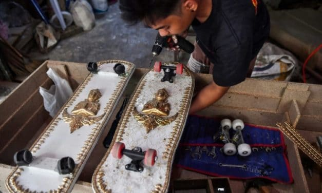 Thai Coffin-Maker Kickflips His Caskets into Skateboards