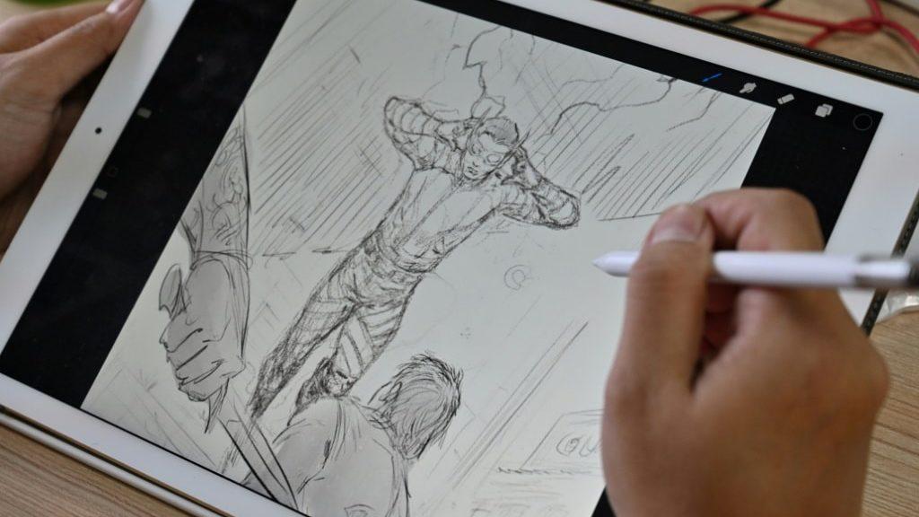 Comic Book Sketch Indonesia.afp
