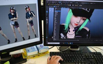 Virtual Idols Take to the Real-Life Stage in China