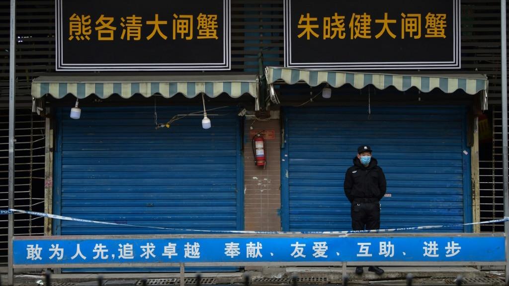 Coronavirus Believed to Spread From a Market in Wuhan.afp