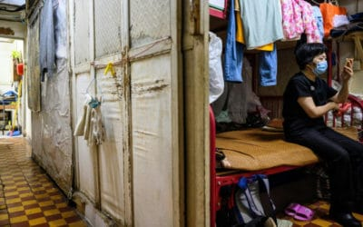 Hong Kong's Cramped 'Cubicle Flats' Makes it Impossible for Distancing