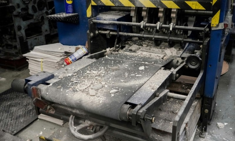 Damaged Printing Press
