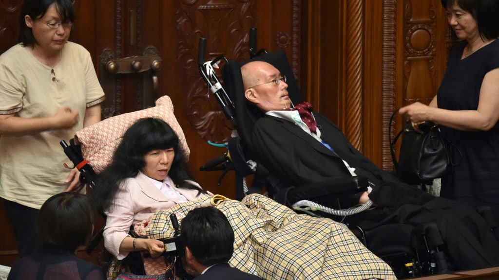 Disabled Lawmakers in Japan.afp