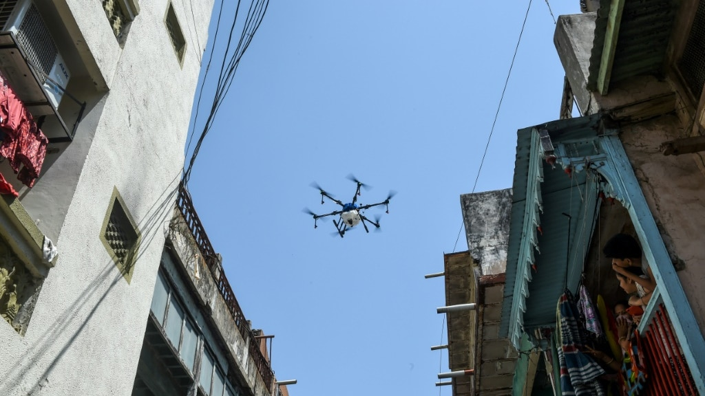 Disinfecting Drone India.afp