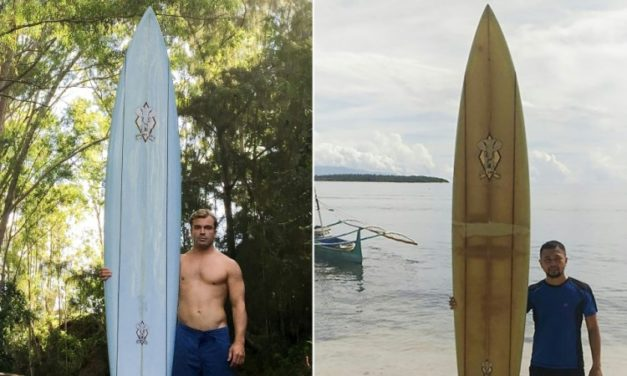 Friendship Made Over a Surfboard Drifted 8,000 km From Hawaii to the Philippines