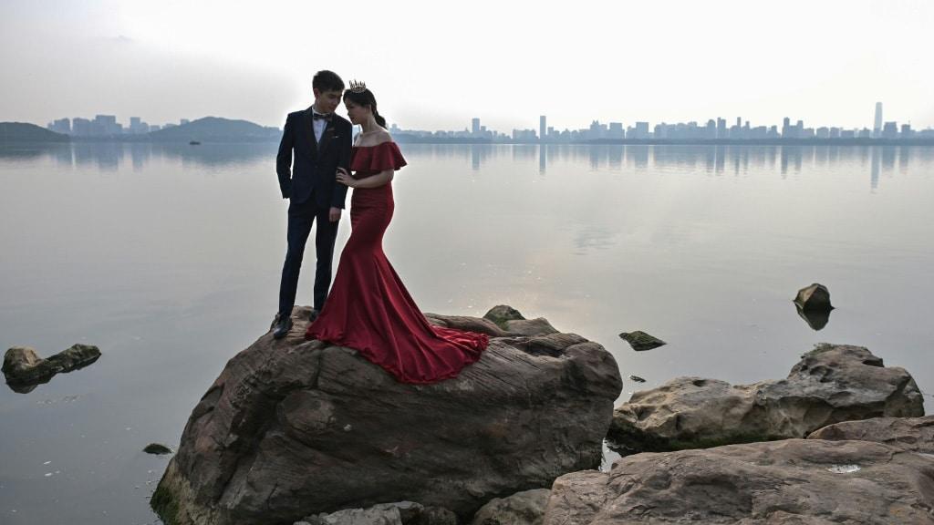 East Lake in Wuhan.afp