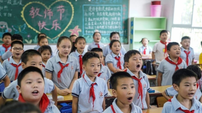 Elementary Students in Wuhan