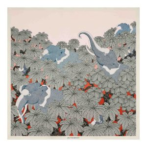 Elephant Silk Twill Shawl