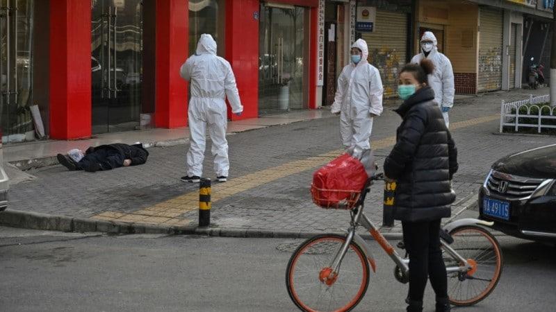 Emergency Workers in Hazmat Suits