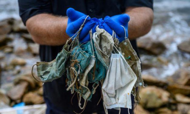 Disposable Face Masks Polluting Hong Kong's Beaches