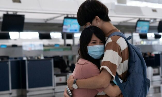 Airport Echoes with Sobs and Farewells in Hong Kong Exodus