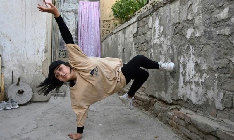 Female Breakdancer Manizha Talash
