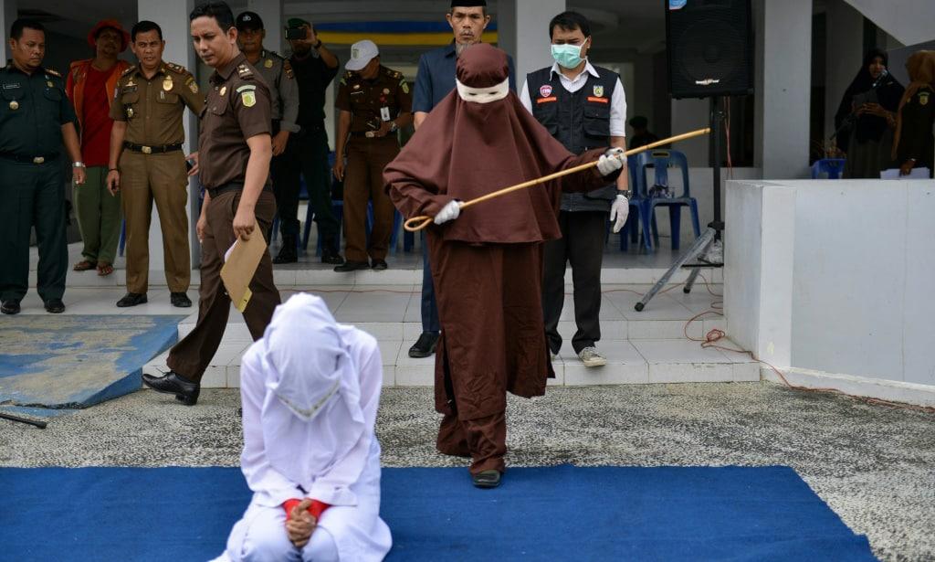 Female Flogger Indonesia.afp
