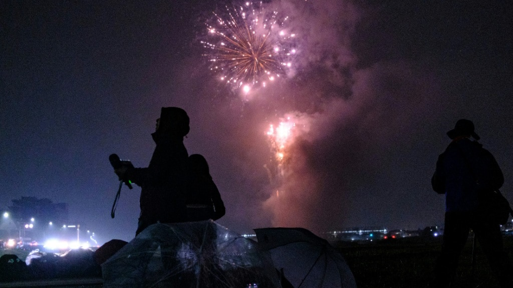 Fireworks in Japan Cheering Up a Virus Weary Public.afp
