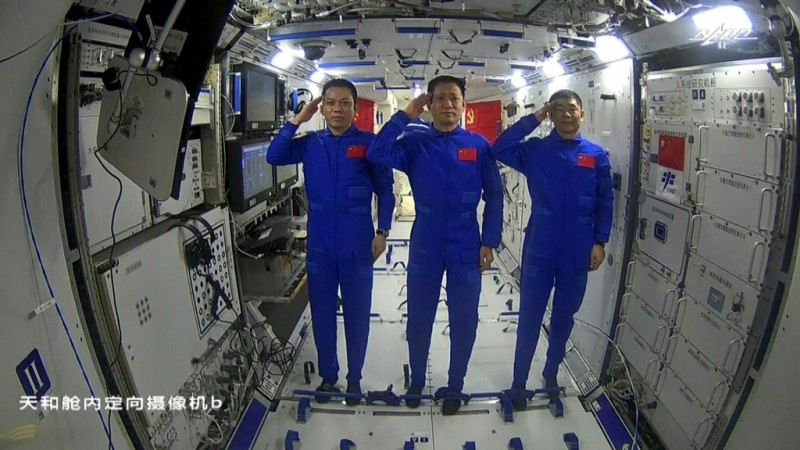 First Crew of China's New Space Station
