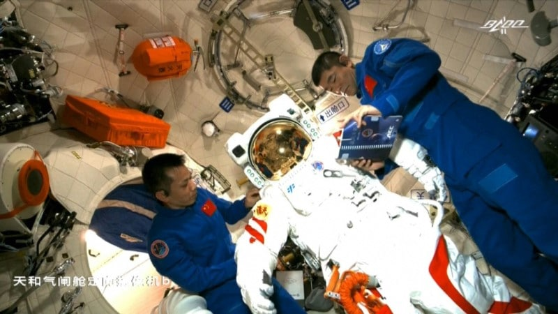 First Spacewalk on Tiangong