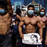 Myanmar's Shirtless Gym Junkies Join Anti-Coup Rally